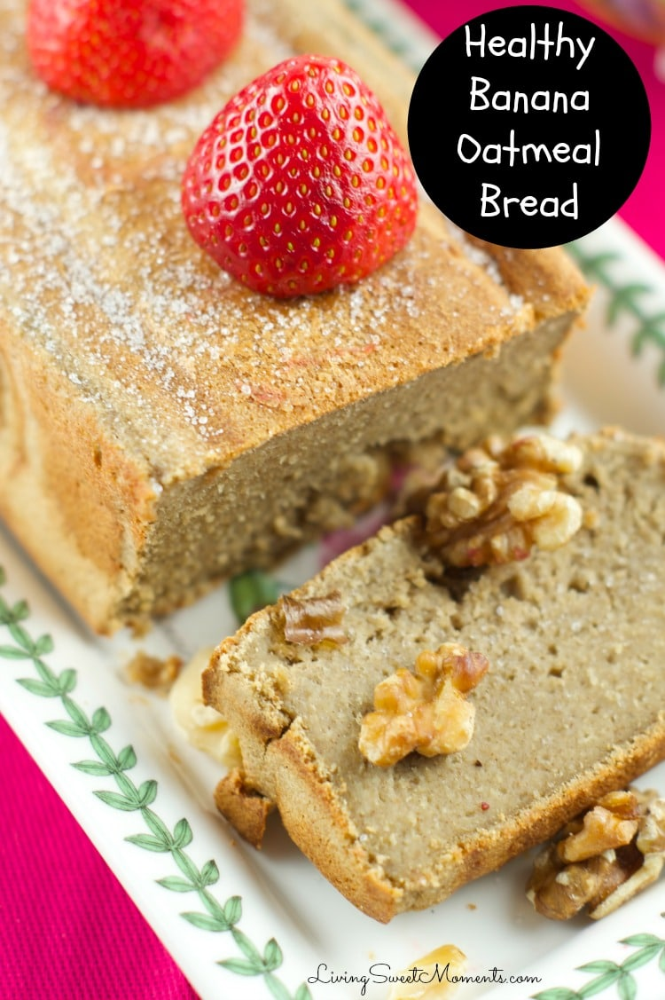 Healthy Banana Oatmeal Bread - this delicious bread is made in the ...